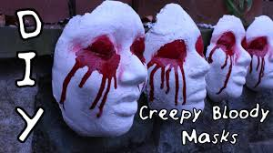 diy creepy bloody mask scary halloween decor diywithjhoy