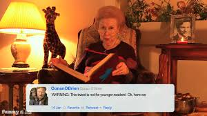 grandma reads conan o u0027brien u0027s tweets from booyapictures