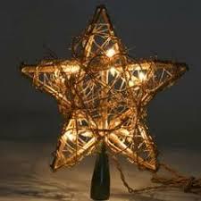 capiz gold tree topper light set warm white 9