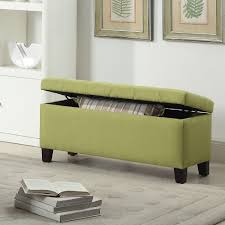 Black Microfiber Ottoman Microfiber Storagen Chocolate With Tray Tufted Bench