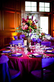 fuschia pink table cloth decor centerpieces purple pink purple chair sashes pink