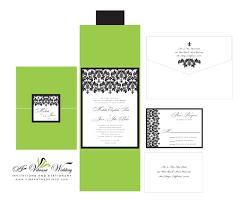 green wedding invitation u2013 a vibrant wedding