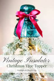 vintage insulator christmas tree topper1 png