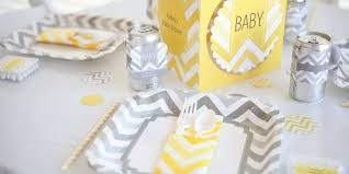 yellow and gray baby shower chevron yellow baby shower theme bigdotofhappiness