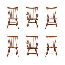 Mid Century Modern Furniture San Antonio by Set Of Six Mid Century Modern Windsor Tall Spindle Back Dining