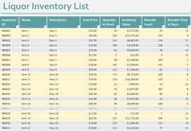 Bar Liquor Inventory Spreadsheet Liquor Inventory Sheet Liquor Inventory Spreadsheet