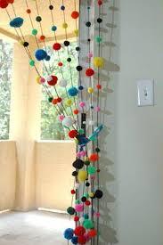 Curtains With Pom Poms Decor Cortina Personagens Ovelhas Fofas Craft Crochet And Room