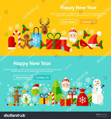 merry christmas modern happy new year website banners vector stock vector 519442600