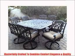 Heritage Patio Furniture Heritage Outdoor Living Flamingo Cast Aluminum 9pc Outdoor Patio