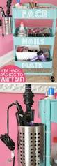 Organizing Tips For Small Bedroom 20 Easy Storage Ideas For Small Spaces Vanity Cart Ikea Vanity
