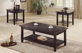 deep espresso finish 3pc stylish coffee table set w drawers