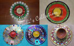 Diwali Decoration Ideas For Home Roohi U0027s Collections 10 Ways Of Making Diyas And Rangoli To