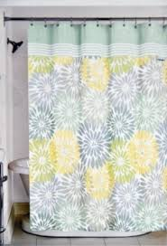 Gray Fabric Shower Curtain Alluring Shower Curtains Yellow And Gray And Curtain Tahari Luxury