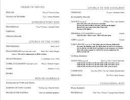 Wedding Ceremony Program Sample 9 Best Images Of Lutheran Wedding Ceremony Program Template