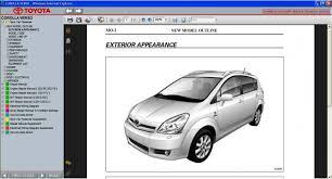 2008 toyota corolla owners manual corolla verso 2004 2009 service repair information manual