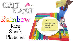 craft klatch rainbow kids snack placemat diy made by mommy