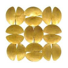 Metal Wall Decoration Gold Metallic Art Wall Decor The Home Depot