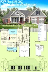 American Craftsman Ranch 3 Bedroom Ranch Floor Plans Plan Is Ideal For Starter Homes