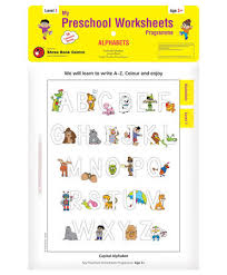 my preschool worksheet alphabet level 1 age 3 worksheets