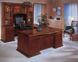 U Shaped Computer Desk With Hutch by Large U Shaped Brown And Gray Oak Wood Computer Desk Which