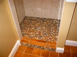 shower floor tiled not grouted creative tiling shower floor