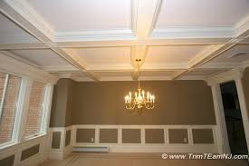 coffered ceilings and beams traditional dining room new york