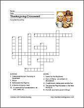 oltre 25 fantastiche idee su thanksgiving crossword puzzle su
