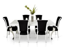 mia modern white lacquer dining table idolza