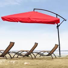 Mosquito Net Umbrella Canopy by Yescom 9 U0027 Red Outdoor Patio Rotation Offset Umbrella W Aluminum