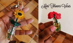 Miniature Flower Vases Floreros Miniatura En Porcelana Fría Y Resina Girasol U0026 Rosas