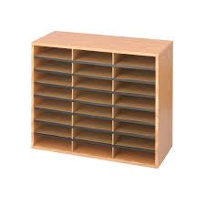 Desk Cubby Organizer Wood Corrugated Literature Organizer 24 Safco Products