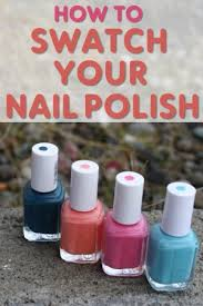 how to swatch your nail polish you put it on