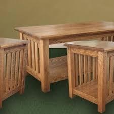 solid oak mission sofa table centerfieldbar com