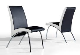 Black White Dining Chairs Dining Room Modern Dining Chairs With Black And White Color