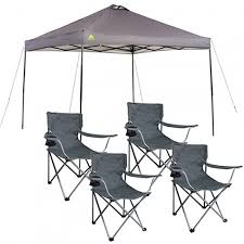 10x10 Canopy Frame Only by Ozark Trail Instant 10x10 Straight Leg Canopy With 4 Chairs Value