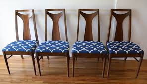 Dining Chair Seats Mid Century Modern Dining Chair Set With Vertical Slat Backs And