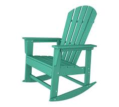 south beach recycled plastic adirondack rocking chair