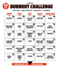 Challenge Works 30 Day Bodyweight Home Workout Challenge