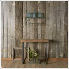 reclaimed wood wall table furniture simple reclaimed wood console table with metal legs for