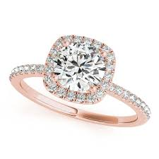 diamond rings square images Square halo round diamond engagement ring 14k rose gold 1ct ng3134 jpg