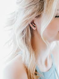 climber earrings cluster ear climber earrings gold frances flowers