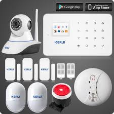 ls111 android ios app control gsm home alarm system tft color ui
