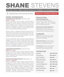 Free Unique Resume Templates Resume Template Skills Graphic Design For Film Internship With