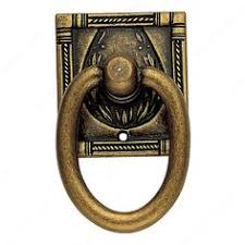 Brass Ring Pulls Cabinet Hardware by 5