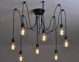 mordern nordic retro edison bulb light chandelier vintage loft