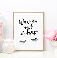 vanity decor wake up and makeup glamour quote glamour