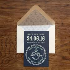 Nautical Save The Date Nautical Top Table Design