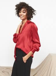 oversized blouse teresa silk oversized shirt s shirts kitri