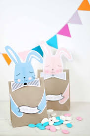 easter free printable bunny treat bags print out these cute