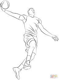 basketball player coloring page free printable coloring pages